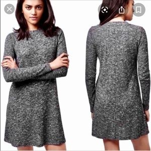 TOPSHOP Marled Longsleve Dress